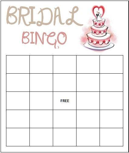 Bridal Bingo Template   peerpex