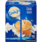International Delight Flavored Liquid Non-Dairy Coffee Creamer, French Vanilla, .44 oz Cups, 192/Ctn