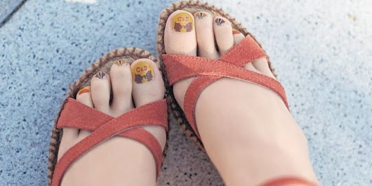 Can You Tell the Difference Between Pedicured Toes and Pedicure Stockings?