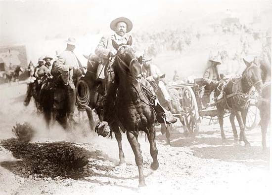 Mexico, Revolution. General Pancho Villa on horseback