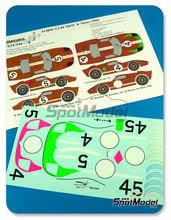 Calcas 1/24 Renaissance Models - Ford GT40 Mk II - Nº 4, 5 - Bucknum 9 Hutcherson, Donohue + Hawkins - 24 Horas de Le Mans 1966 para kits de Fujimi FJ12101, FJ12102, FJ12103