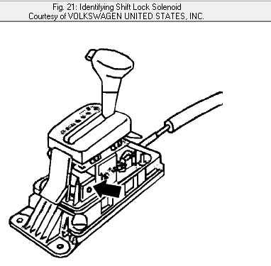 HowToRepairGuide.com: Shift lock solenoid on Volkswagen