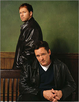 Michael Madsen, foreground, and Donnie Wahlberg acted together in 'Big Apple,' a 2001 CBS television series about the FBI and NYPD battling the mob in New York City.