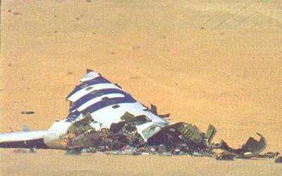 Forward Debris from UTA772 in the Sahara
