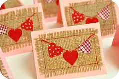 Valentine Heart Bunting Cards