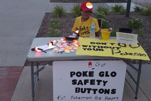 "This 7-Year-Old Pokéntrepreneur Started a Business to Keep ""Pokemon Go"" Players Safe in the Streets"