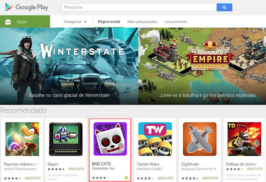 BadCats – Madness featured on Play Store main page !!!