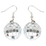 Groovy Disco Mirror Ball Earrings