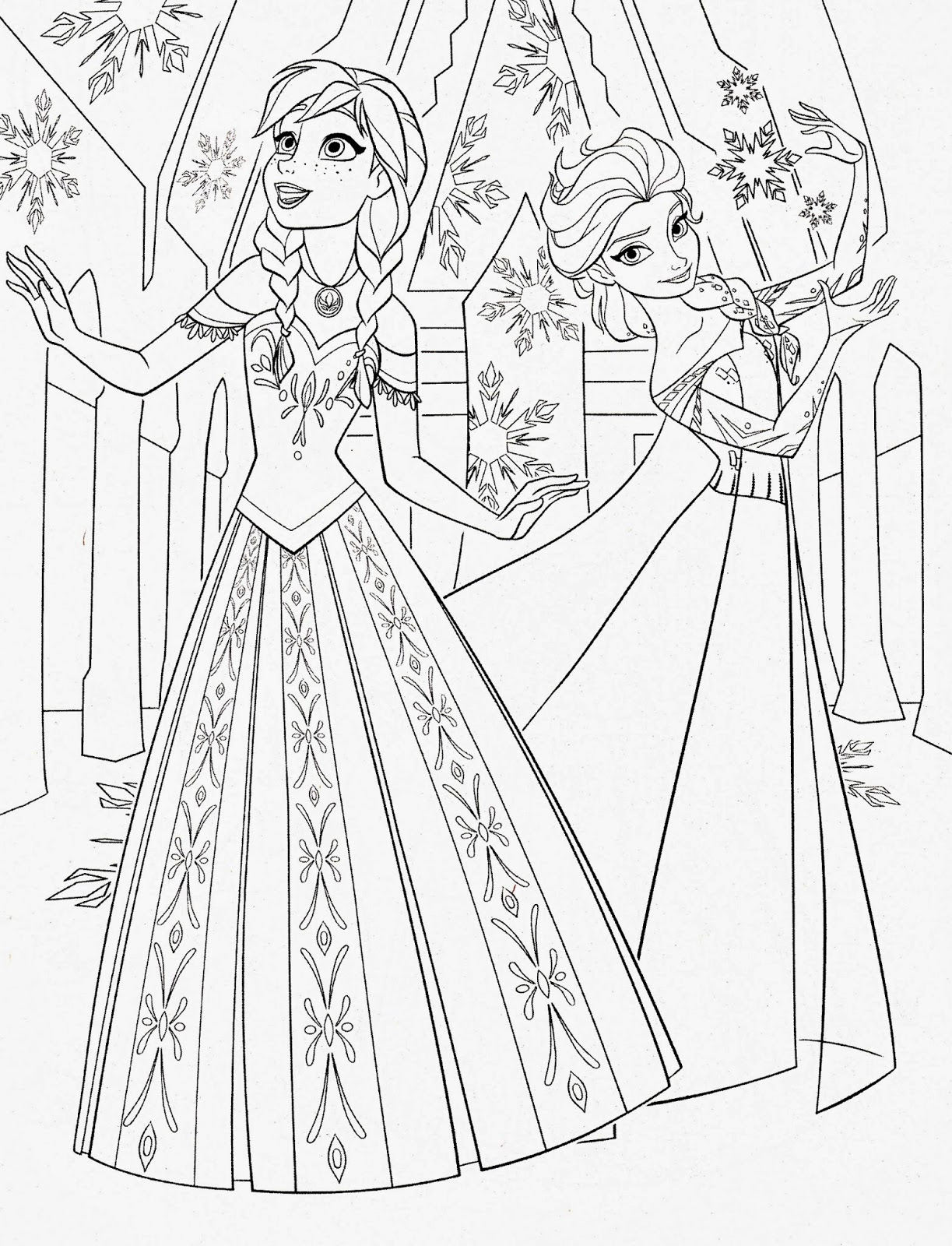 Frozen Coloring Pages Color Pages Free Coloring Pages For Kids