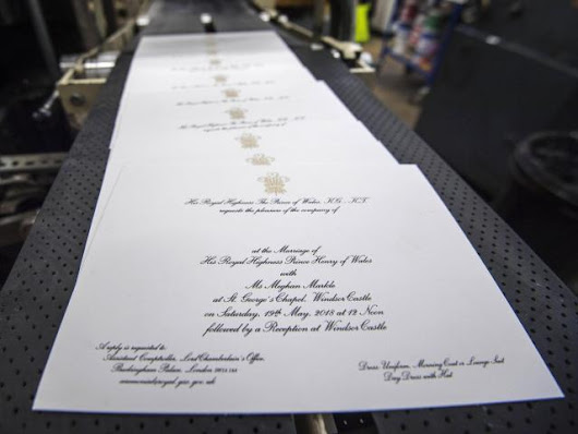 Here's what Prince Harry and Meghan Markle's wedding invitations look like :: WRAL.com