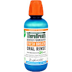 TheraBreath Dentist Recommended Fresh Breath Oral Rinse, Neutralizes Sulfur Producing Bacteria, Icy Mint Flavor, 16 Ounce