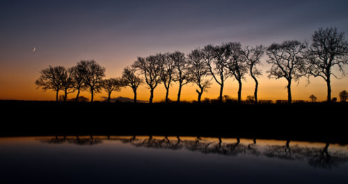 sunset and moonrise, by Cupar Fife-278461 by E.........