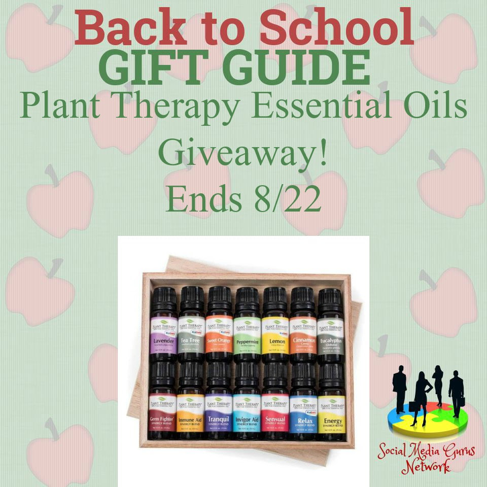 Enter the Plant Therapy Essential Oils Giveaway. Ends 8/22