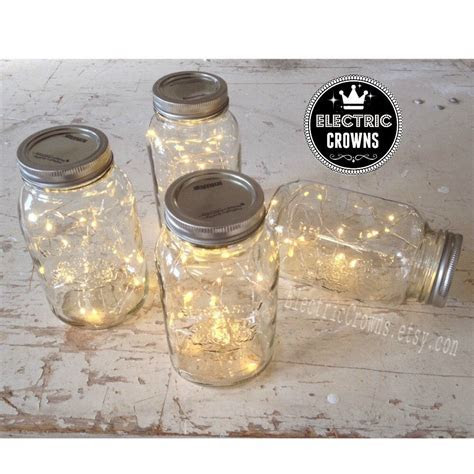 12, Mason jar lights Rustic Wedding Decorations Country