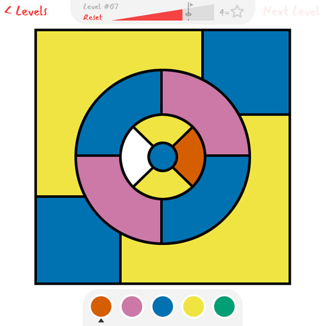 Play Four Color Theorem Coloring Puzzle Game Free Online Games With Qgames Org