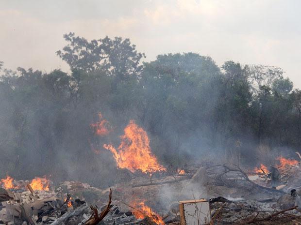 Incêndio atinge Parque Nacional em Brasília (Foto: Vianey Bentes/TV Globo)