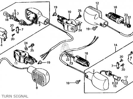 Honda Cb700sc 1985 Nighthawk S Usa parts list partsmanual ...