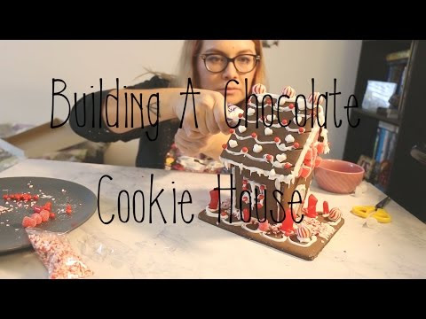 Building a Chocolate Cookie House - Vlog