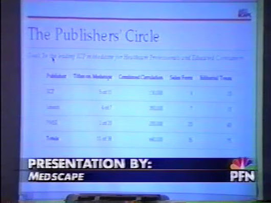 Peter Frishauf Presents Medscape, 1996