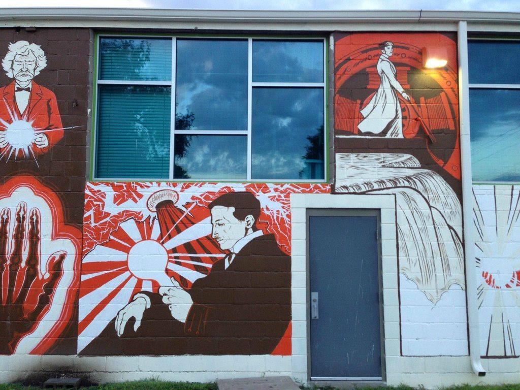 Geek Art Gallery: Mural: Nikola Tesla