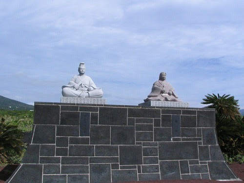 Statues by the sea