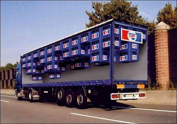 truck ad designs 01 in Funny 3D Truck Ad Designs