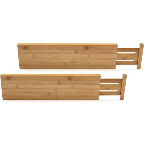 Lipper International Bamboo Kitchen Drawer Dividers 2 Pack