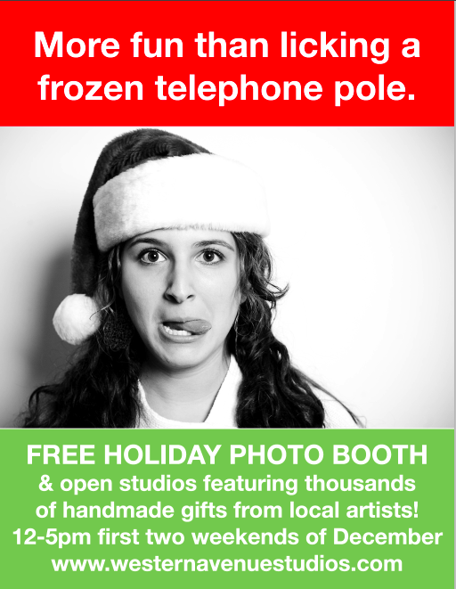 Holiday Open Studio Photo Booth