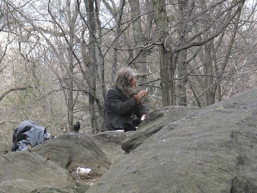 Homeless in Central Park