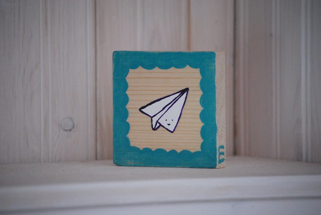 tiny painting on wood