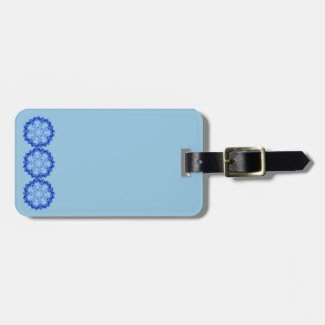Blue Mandalas Design on Luggage Tag