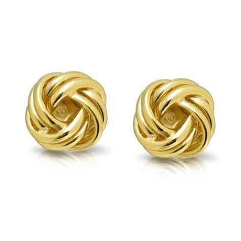 Woven Love Knot Stud Earrings 925 Sterling 9mm