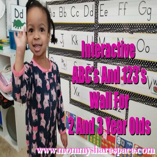 Interactive ABC And Numbers Wall For Two And Three-Year-Olds