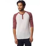 Alternative Basic Eco-Jersey 3/4 Sleeve Raglan Henley Shirt