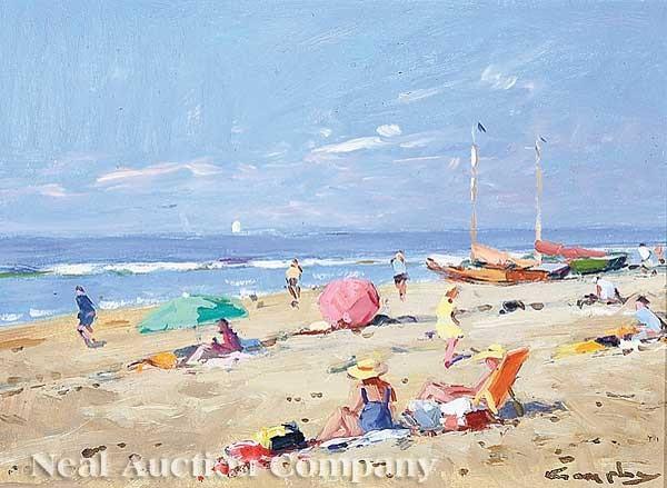 Beach Scene By Niek Van Der Plas On Artnet