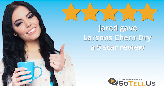 Jared F gave Larsons Chem-Dry a 5 star review