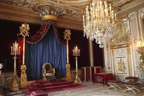 Le Trône de Napoleon - Chateau de Fontainebleau
