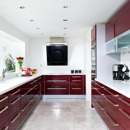 Modern burgundy kitchen tour | Ideal Home