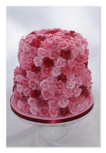 Rose covered wedding cake by My Cake