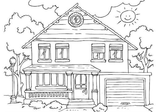 Contoh Gambar Rumah Untuk Anak Sd Kelas 1