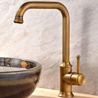 New Arrival Vintage Style Bathroom Basin Sink Faucet Antique Brass