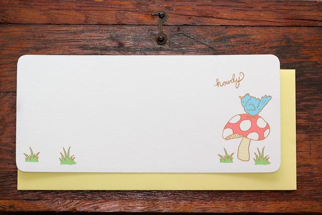 Bird on Mushroom Stationery