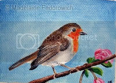 Springtime Robin ACEO