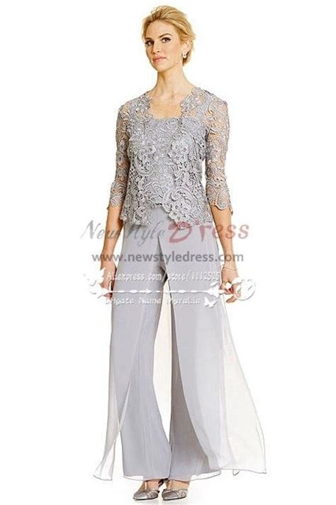 silver grey pc pantset  summer wedding mother