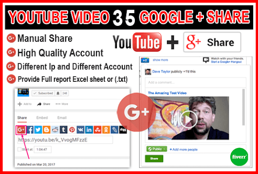 I will promote Youtube Video 35 Google Plus Share