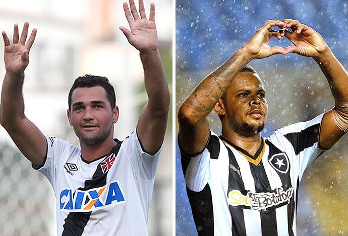 montagem Gilbeto e Bill, Botafogo x Vasco (Foto: Montagem sobre foto da Ag. O Globo)