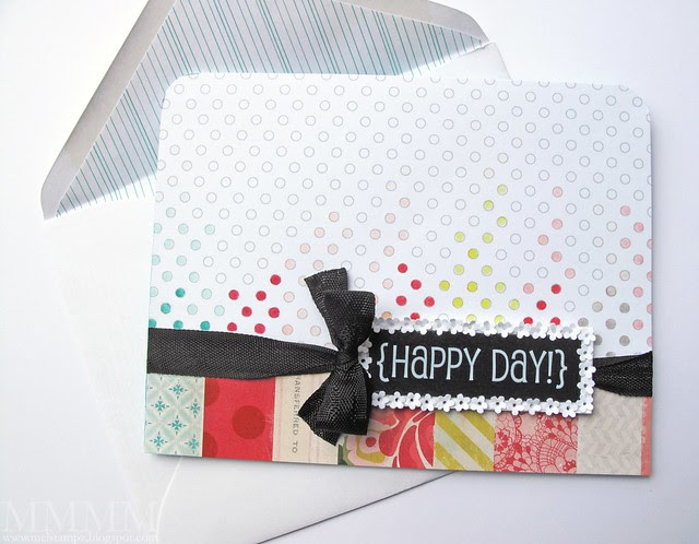 SRM Sticker {happy day} card