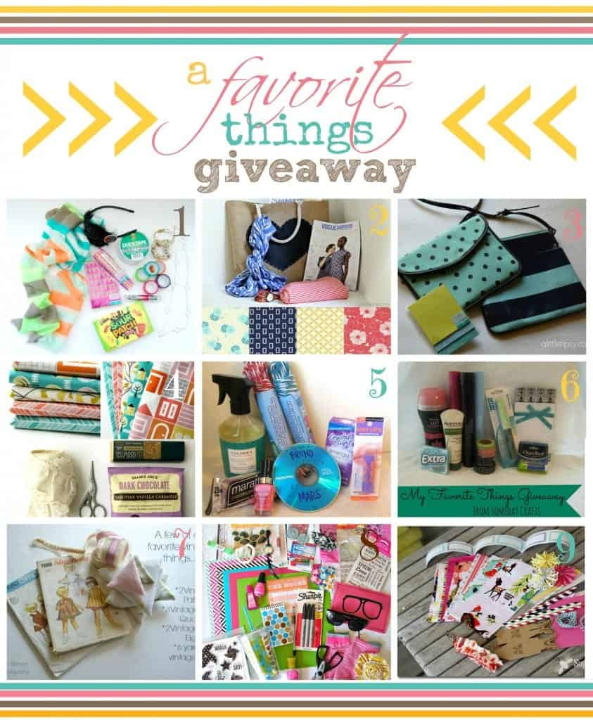 favorite things group giveaway