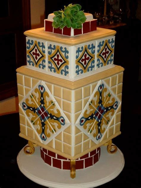 Catalina Tile Cake   CakeCentral.com
