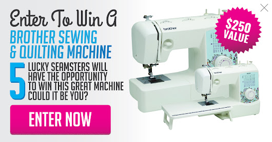Enter Below To Win Your Own $250 Brother Sewing Machine #contestentry